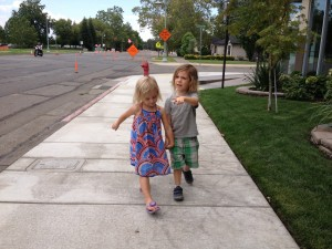 Bulbouts make Parkview Avenue's sidewalks safer for children and others (Photo courtesy of Heather Phillips.)