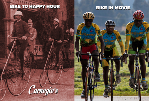 Bike to Work, Happy Hour & Movie.  Rising from Ashes  May 20