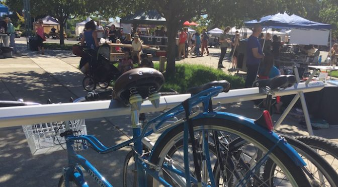 VALET BICYCLE PARKING AT PREMIER LOCAL EVENTS #shastabikevalet